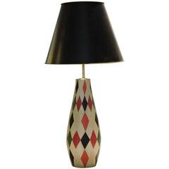 Large Harlequin Diamond Design Table Lamp
