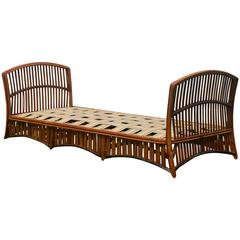 Antique Ypsilanti Stick Wicker Daybed