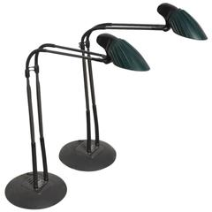 "Stephan Copeland Set of Two Desk, Table ""Tango"" Lamps for Arteluce"