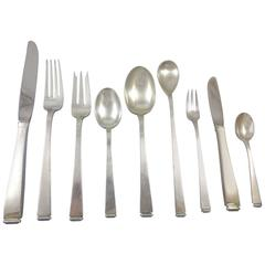 Perspective by Gorham Sterling Silver Flatware Set Service 59 Pieces Modernism