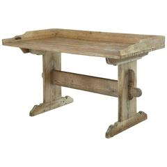 19th Century Rustic Swedish Pine Work Table