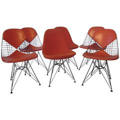 Eames Herman Miller Eiffel Tower Wire Dining Chairs