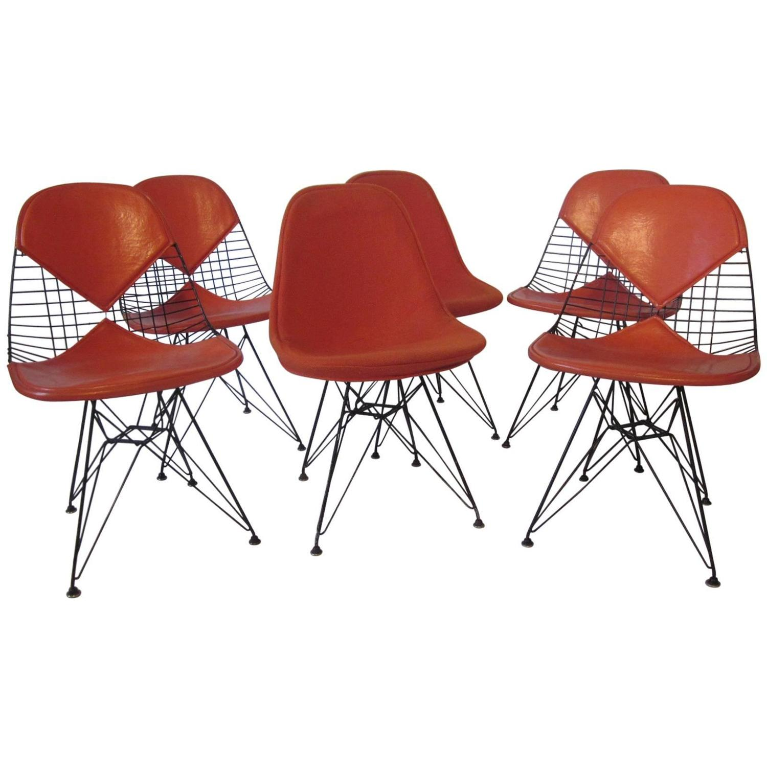 eames herman miller eiffel tower wire dining chairs for. Black Bedroom Furniture Sets. Home Design Ideas