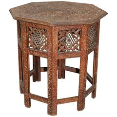Syrian Carved Wood Table
