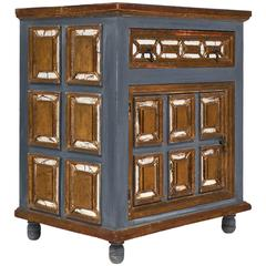 Antique Mirrored Venetian Cabinet or Nightstand