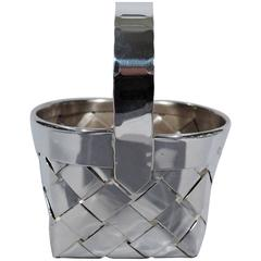 Cartier Country Chic Handmade Sterling Silver Basket