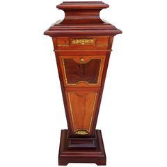 Wonderful French Ormolu Bronze-Mounted Mahogany Pedestal Marble-Top Drawers