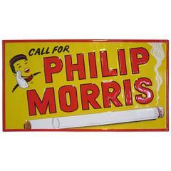 Vintage Philip Morris Cigarette Advertising Sign
