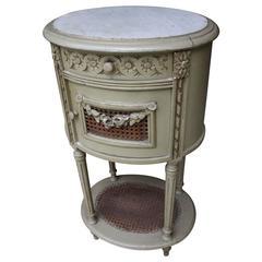 Louis XVI Antique Marble-Top Nightstand