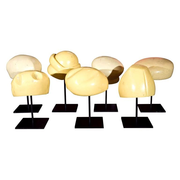 Set of Seven German Hat Forms For Sale