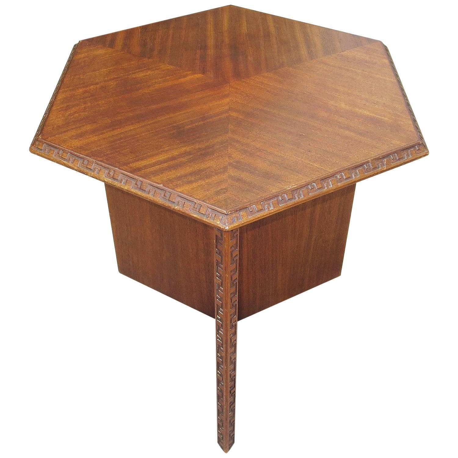 Frank Lloyd Wright Side Table for Heritage Henredon 1955 at 1stdibs