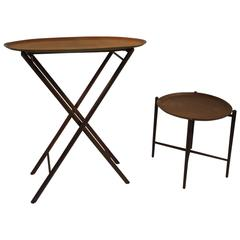 Terrific Set of Two Danish Modern Tray Tables, circa 1970