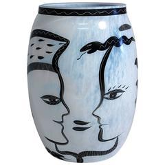 """Ulrica Hydman-Vallien """"Caramba"""" Kosta Boda Large Vase"""
