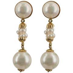 Pearl Earrings on Gold