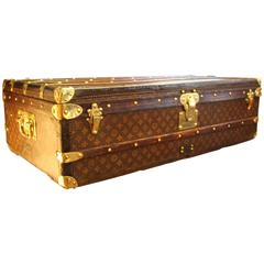 1920's Louis Vuitton Stenciled Monogramm Canvas Steamer Trunk, First Edition