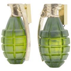Pair of Grenade Sconces by Stan Usel