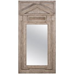 Fronton Mirror Glass in Handwork Driftwood Neoclassic Style