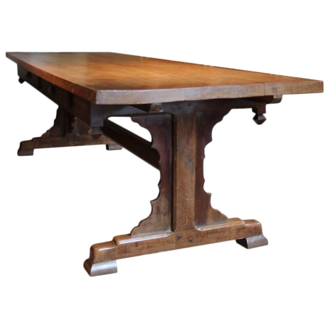 Superb 19th Century French Farmhouse Dining Table For Sale at 1stdibs