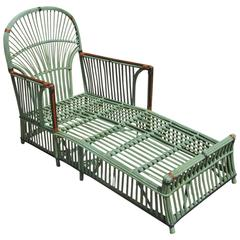 Stick Wicker Chaise Lounge