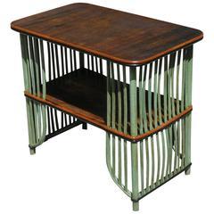 Stick Wicker Side Table