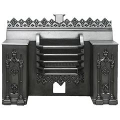 19th Century Georgian Cast Iron Hob Grate in the Gothic Manner