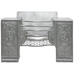 18th Century Georgian Cast Iron Hob Register Grate