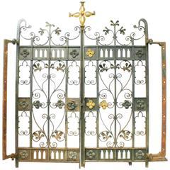 19th Century Wrought Iron Gates