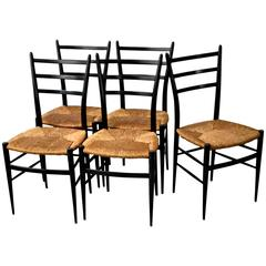 Set of Five Spinetto Chiavari Chairs, 1950s, Italy