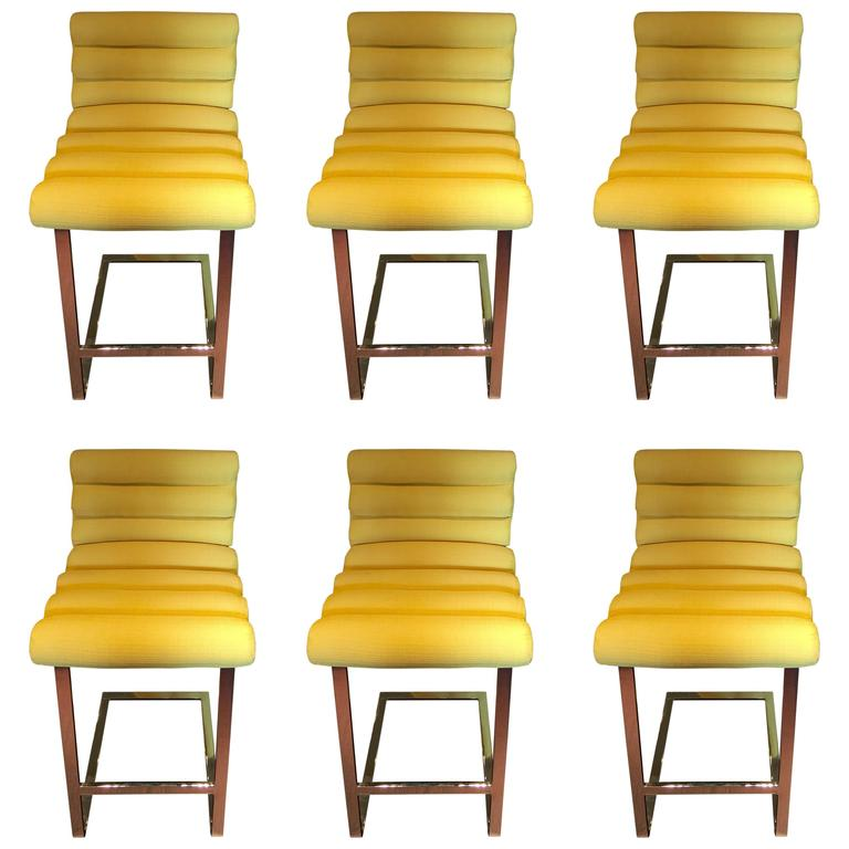 this milo baughman yellow bar stools is no longer available