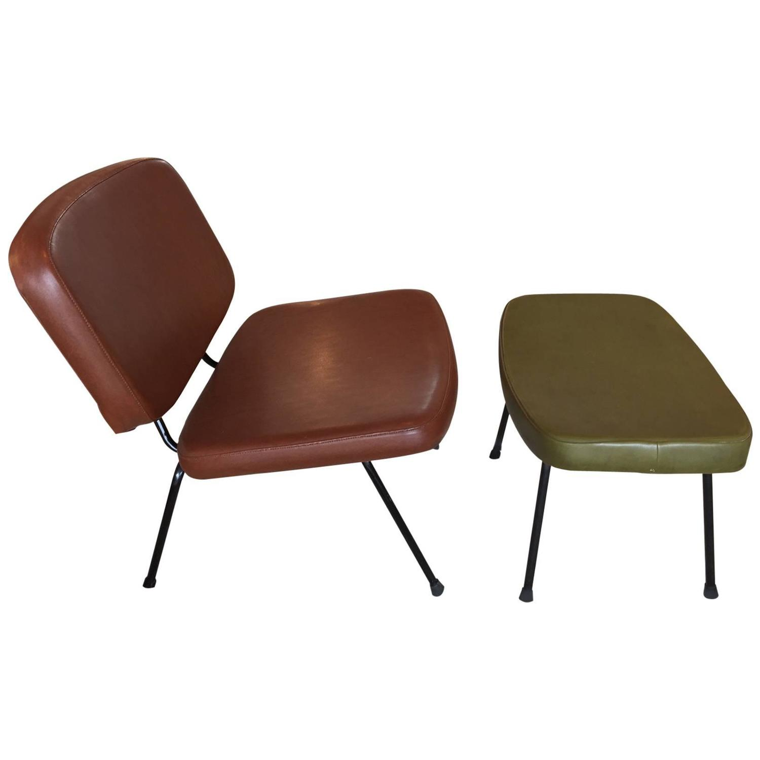 paulin cm190 low chair and ottoman at 1stdibs