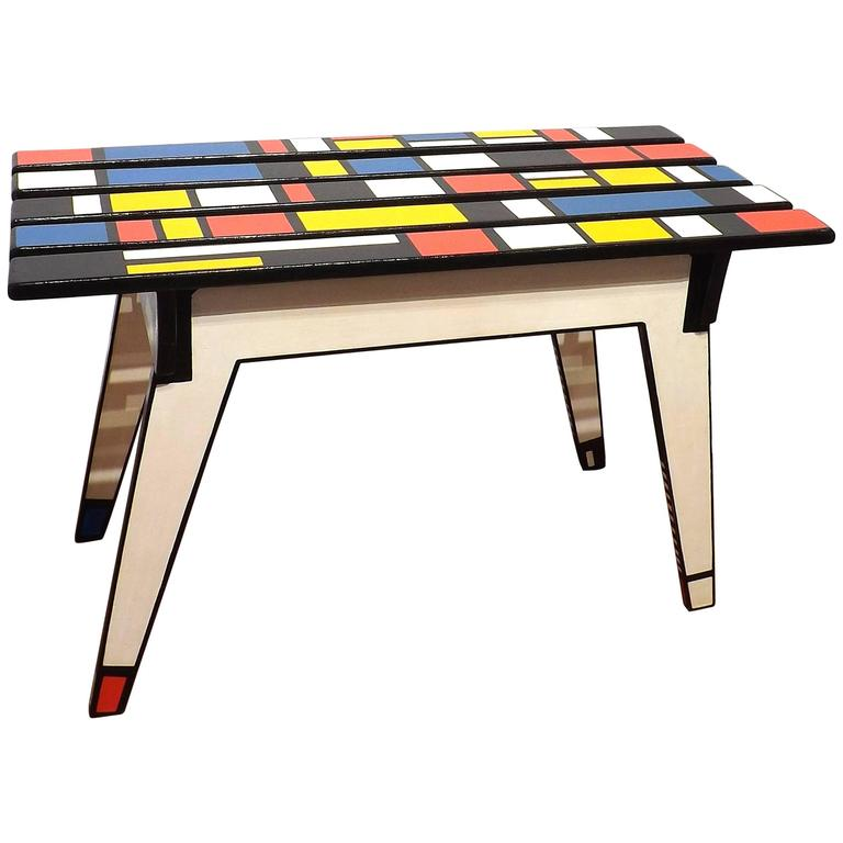 Homage To Mondrian Coffee Table At 1stdibs