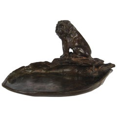 Marie Zimmermann Bronze Lion Cast by Roman Bronze Works in 1930