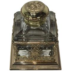 Empire Bronze-Mounted Baccarat Inkwell