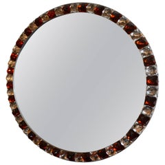 Red and White Diamond Mirror