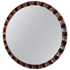 Red and White Diamond Mirror