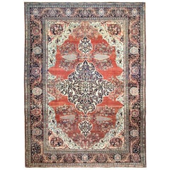 Striking Antique Feraghan Sarouk Carpet
