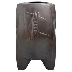 Big Japanese Hand Cast Bronze Art Deco Vase 1930's - best in class