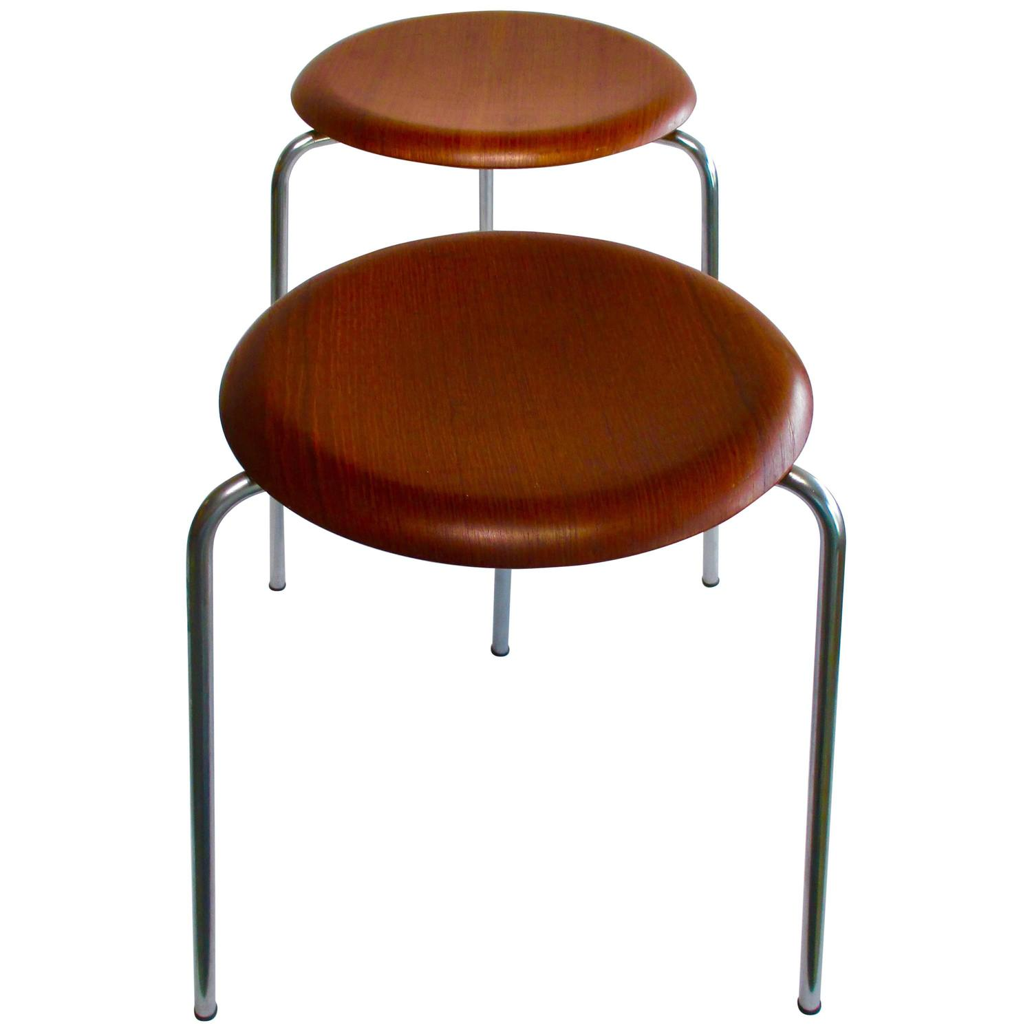 Dot Stools An Early Pair By Arne Jacobson At 1stdibs