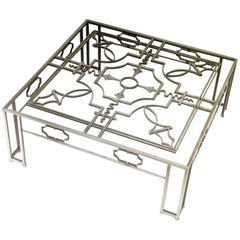 French Art Deco Wrought Iron Coffee Table