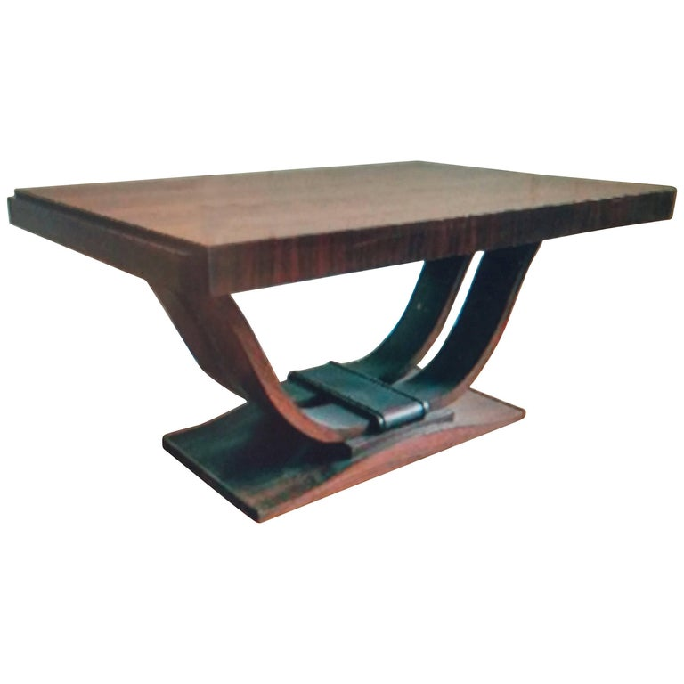French Art Deco Dining Room Table or Desk For Sale