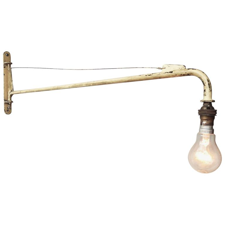 Jean Prouvé Swing Jib Wall Light from Air France, Dakar For Sale