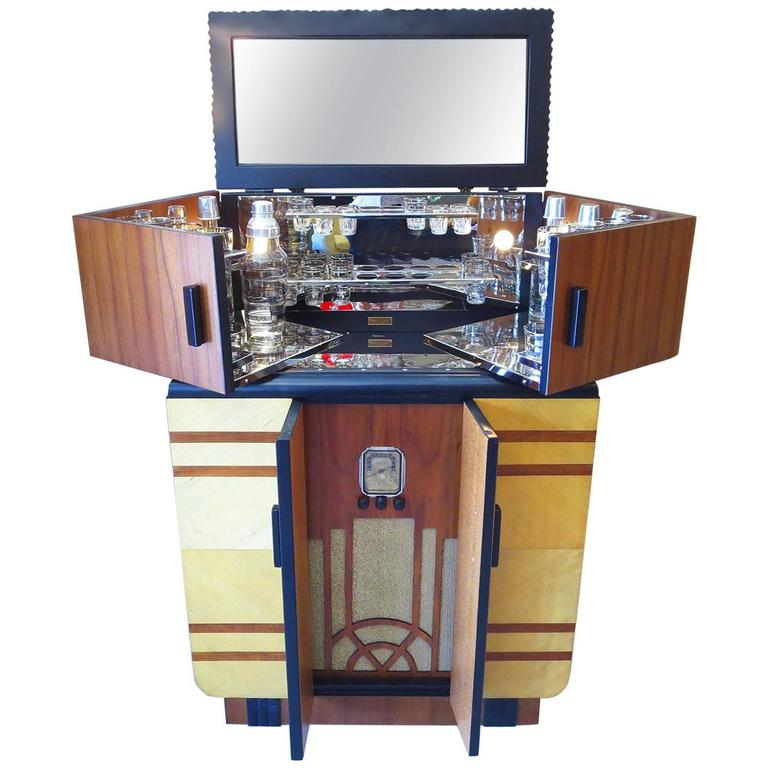 Floor Model Kitchen Cabinets For Sale: Art Deco Restored Philco Radiobar Cocktail Cabinet At 1stdibs