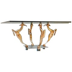 French Art Deco Antelope Coffee Table