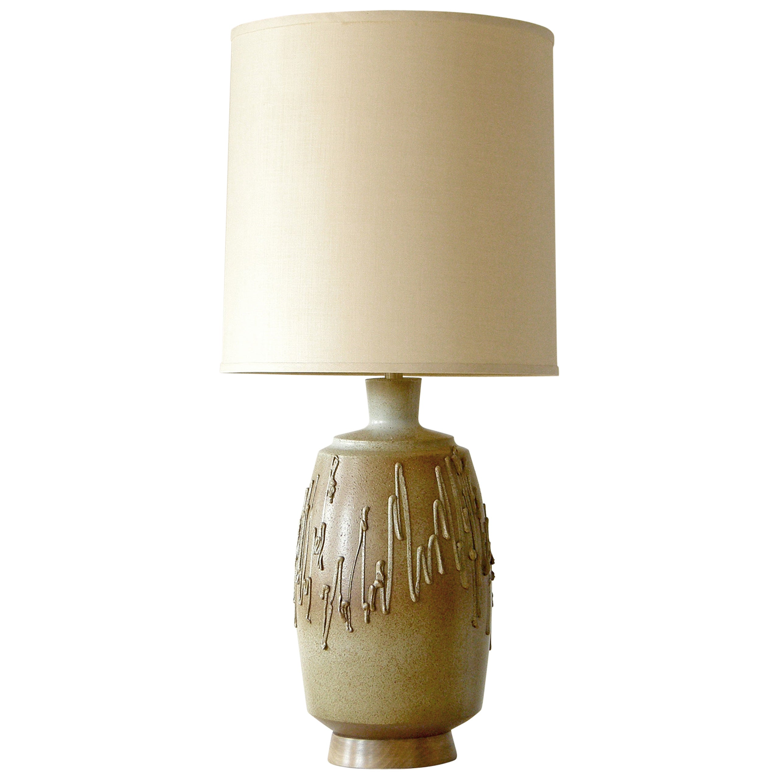 David Cressey Ceramic Table Lamp for Architectural Pottery with Textured Surface