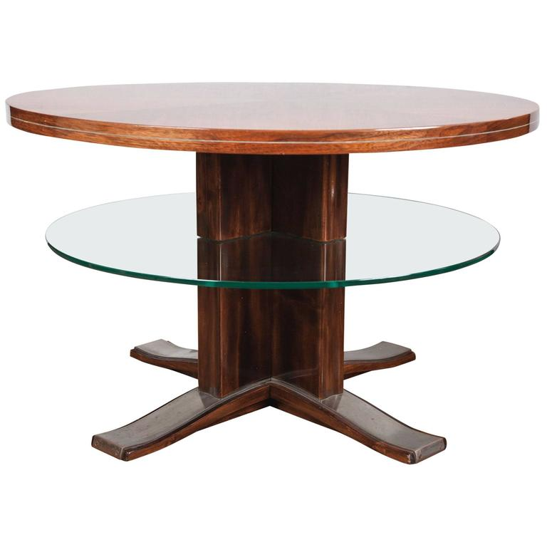 French Arte Moderne Two-Tiered Low Table