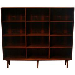 Vintage Danish Rosewood Wide Bookcase