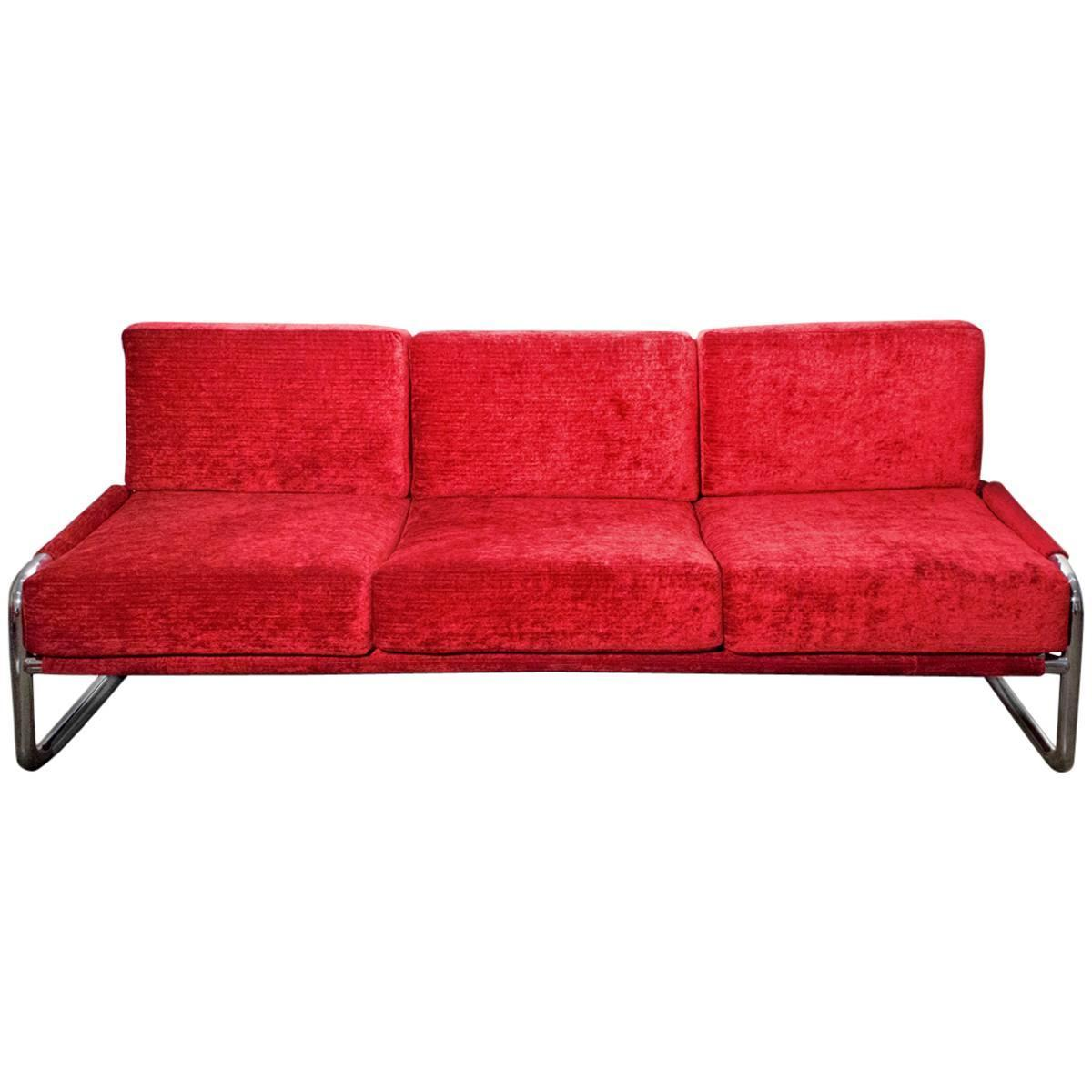 Super 1970s chrome sofa and armchair set for sale at 1stdibs - Super sofa ...