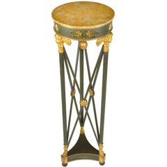 French Empire Style Gilt and Painted Wood Pedestal