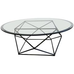 Milo Baughman Geometric Bronze Coffee Table