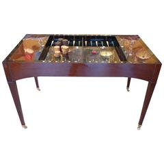 French Directoire Period, circa 1795 Reversible Desk and Tric-Trac Game Table